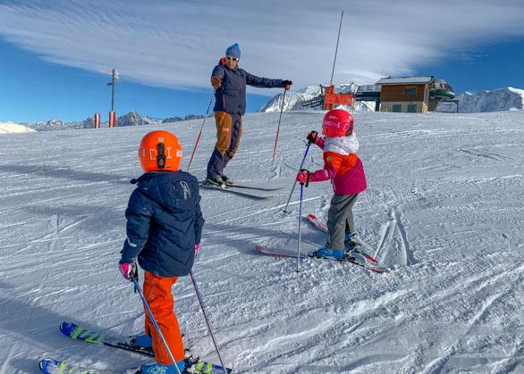 Private ski lesson in Megeve by Ninguis ski school